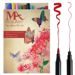 Rotuladores con doble punta : dual brush pen MozArt