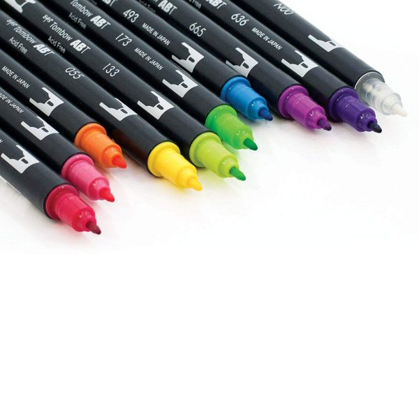 Tombow Rotuladores Multicolor de Doble Punta (10 Unidades)